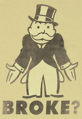The Democratic Party needs a little help from Uncle Pennybags . . . once he passes go and collects his $200.