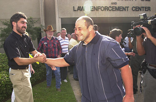 Roy Criner leaves prison after spending 10 years behind bars on a rape conviction. The charges were later overturned when DNA evidence suggested his innocence, and Criner was pardoned by George W. Bush in 2000