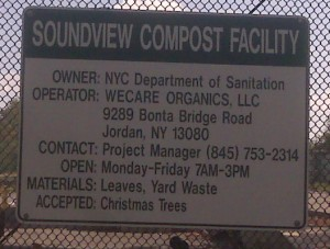 The sign posted on the Soundview compost