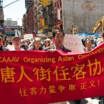 HOUSING ISSUES: Tenants rally against landlord harrassment in Chinatown on May 08 (Photo by Tuan Nguyen)