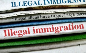 Colorlines image of illegal immigration headlines