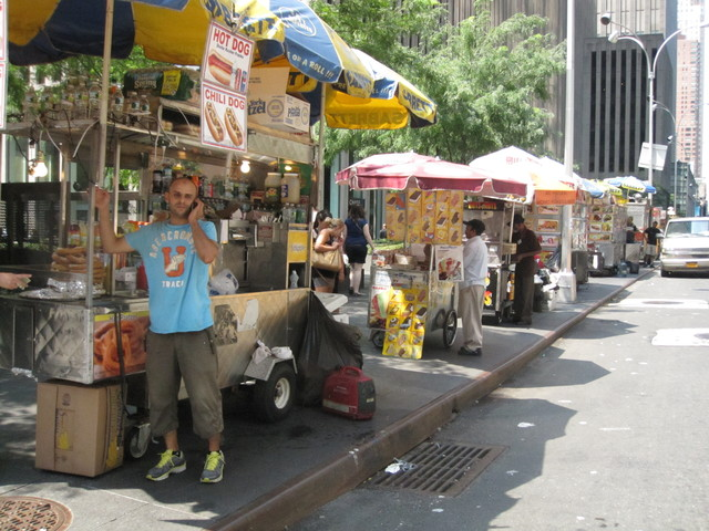 Row of food carts
