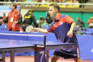 Leibovitz Israeli-born table tennis player Leibovitz will compete for the US in Paralympic Games n London this year. (Photo by JTA via The Jewish Weekly).