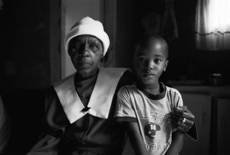 Nkoki and his grandmother, Alexandra Township, South Africa