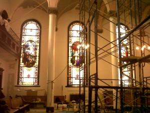 Rugged Cross Church Interior