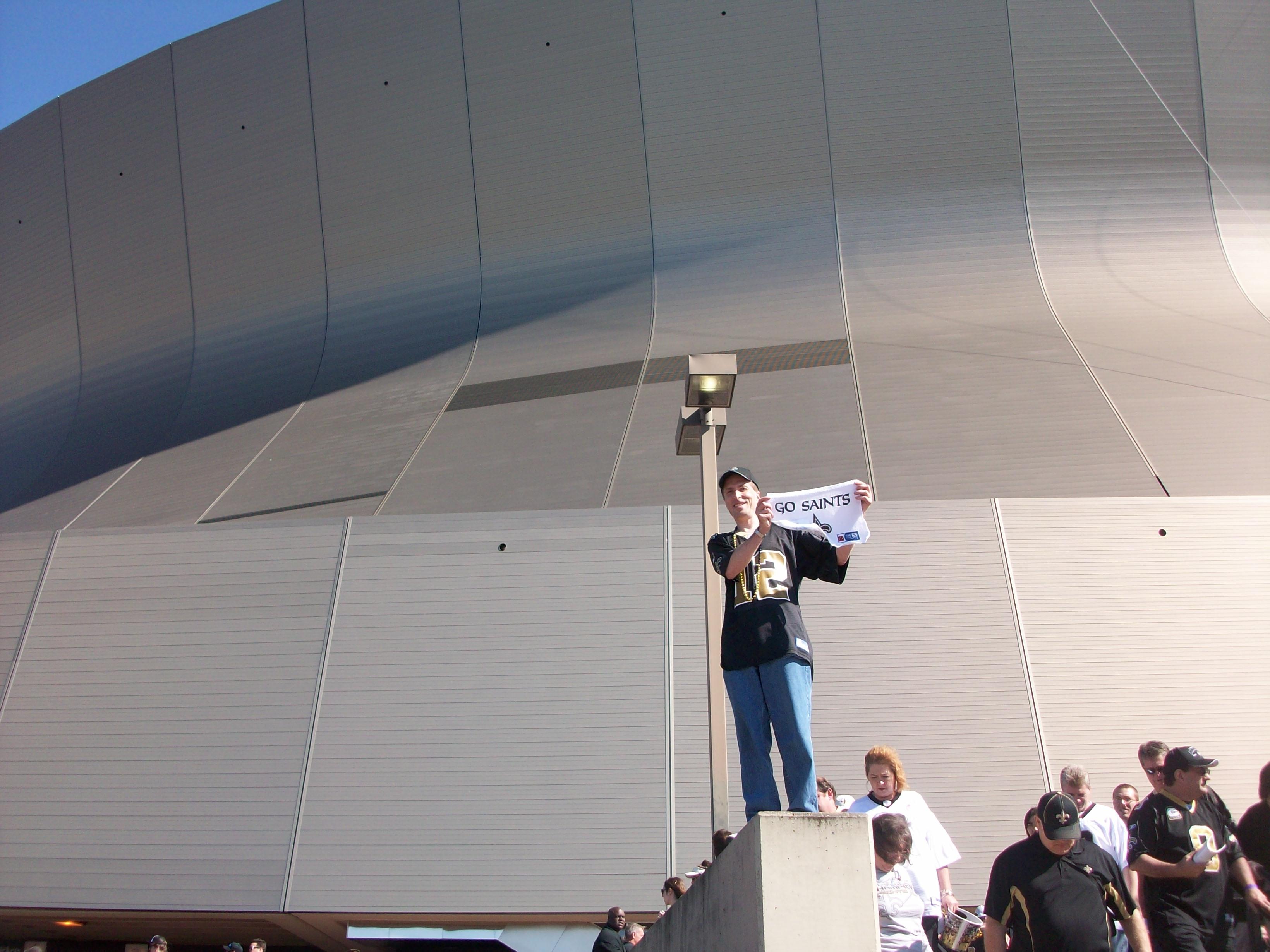 Breathing a sigh of relief after the Saints close win today at the Superdome.