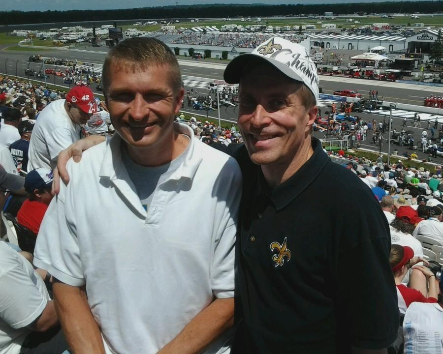 Lagniappe: My brother joined me at a race a few days before driving me to New Orleans.