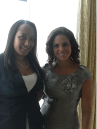 Amy Stretten with Soledad O'Brien