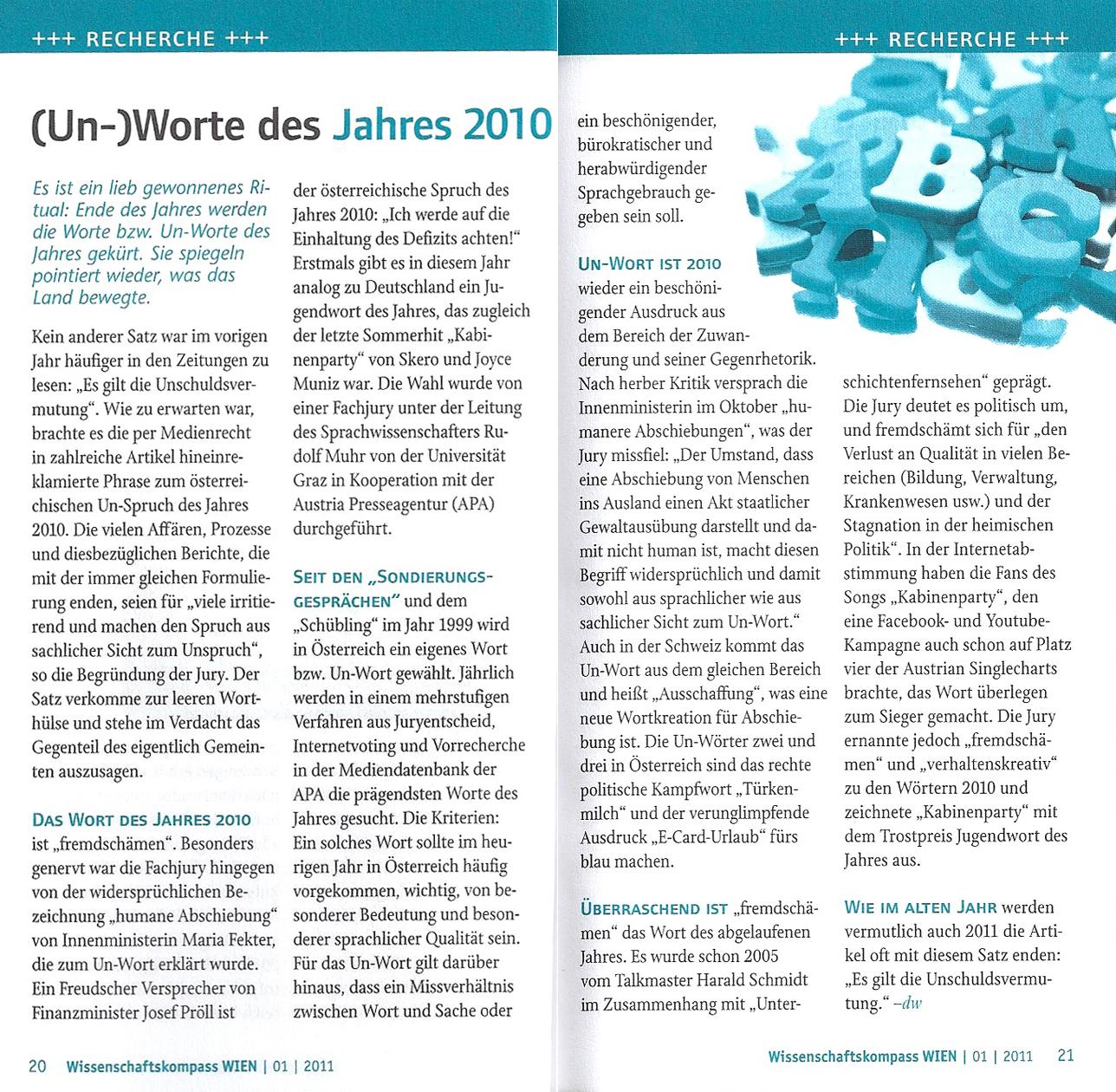 (Un-)Worte des Jahres 2010