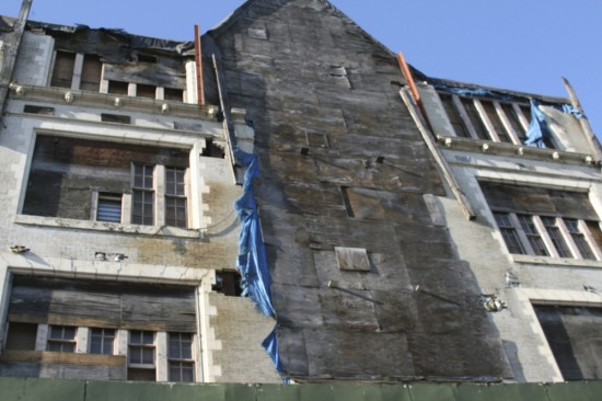 Mott Haven school building crumbles