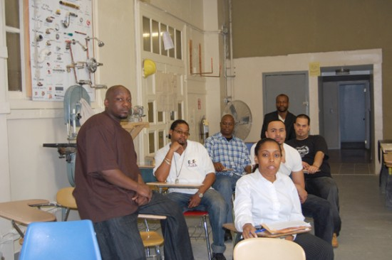 Workers learn by doing in Project H.I.R.E.
