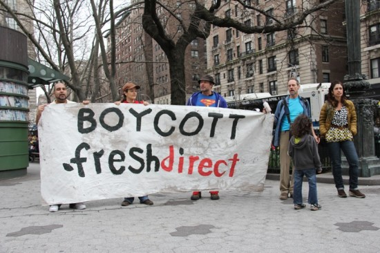 FreshDirect protesters take their beef to Manhattan