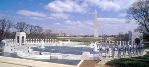 World War II Memorial Plaza in Washington, D.C. Photo by Rick Latoff/American Battle Monuments Commission.