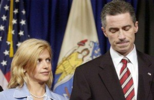 James McGreevy and his wife at a press conference talking about his same-sex affair.
