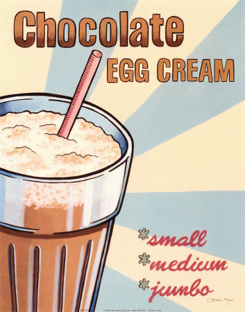 Chocolate Egg Cream, a poster by Louise Max