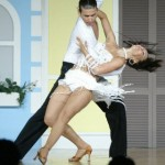 Salsa Dancers in Full Swing