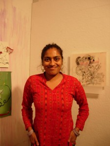 Chitra Ganesh uses her art to challenge female stereotypes found in cartoon fairy tales.